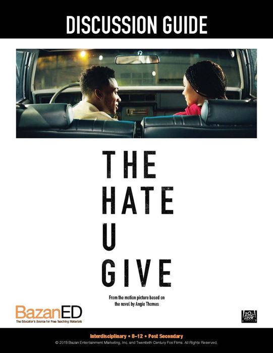 Picture of  THE HATE U GIVE - Discussion Guide